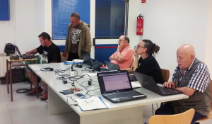 Participants al taller de WordPress