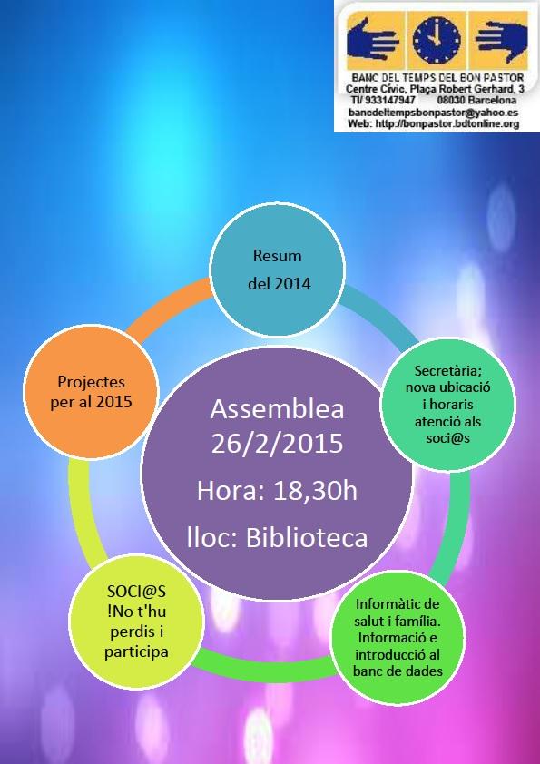 Asamblea Socio @ s del Banco del Tiempo 2015